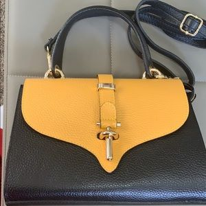 Italian leather and suede purse